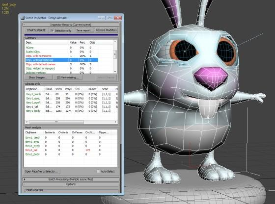 Scene Inspector: Inspect 3ds Max 3D models detecting issues