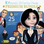 3D Cartoon People Premium Bundle