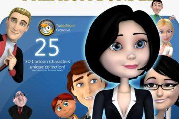 3D Cartoon People Premium Bundle