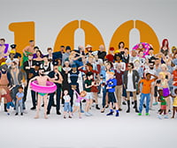 lowpoly pack 3d characters