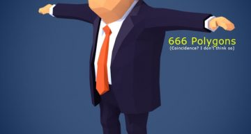 Free Low Poly Donald Trump 3D Character