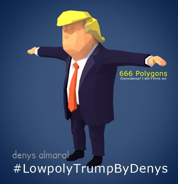 Free Lowpoly Donald Trump 3D Character