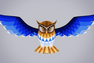 Free Polygon Painting Script and Low Poly Owl