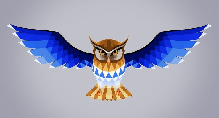 Free Polygon Painting Script and LowPoly Owl - Denys Blog