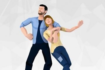 Free Low Poly Style Casual Couple 3D Characters