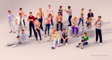 20 Static Posed, Low Poly Free 3D Models