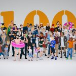 100 LowPoly People Mega-Pack Rigged Characters